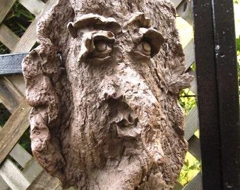 Maple Sugar the Ent Wife Garden Totem Mask indoor outdoor sculpture