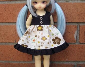 Brown flowers littlefee yosd dress