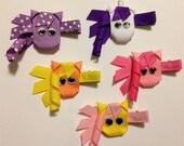 Little Pony Ribbon Sculpture Hair Clip - CHOOSE COLORS