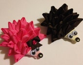 Hedgehog Ribbon Sculpture Hair Clip  - Choose one, choose color