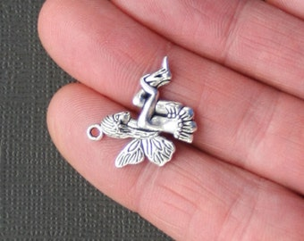 5 Nymph Charms Antique  Silver Tone Woodland Fairy - SC2055