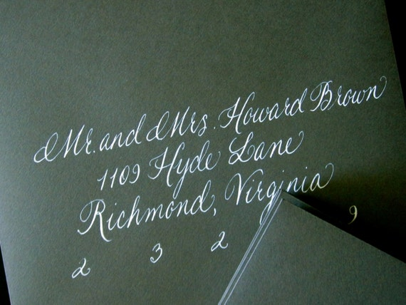 Reserved for Catherine W.-Calligraphy---Anna Font