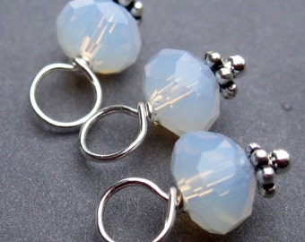 Opalite Crystal Dangles, Stitch Markers,  Bead Charms, Crystal Drops, Crystal Charms,  6mm Beads, Moonstone, Add a Dangle