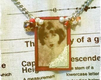 Deco Cameo - Cameo Necklace - Beaded Necklace