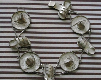 Vintage Bracelet Mexican Silver ... Sombreros And Sandals