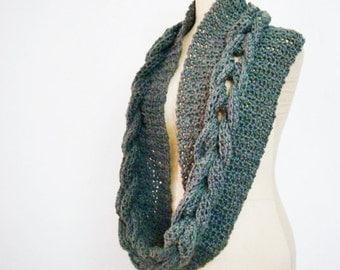 Infinity Loop Scarf Crocheting Pattern, Crochet Cowl Pattern, Crochet Pattern Flower Pin Brooch, 213