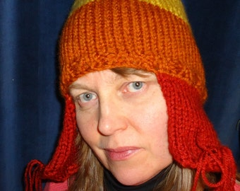 Earflap Hat with Anti-Fox Pom Pom