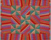 Stripes and Pinwheels Silk Miniaure Quilt