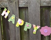 spring party decorations, Easter decorations, party decorations, baby shower decorations, happy spring garland