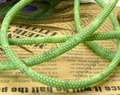 6ft of 6mm Green Faux Snakeskin Leather Cord,Snakeskin Leather Cord,Faux Leather straps,jewelry findings