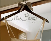 Bridal Wedding Hanger - Customize and Personalized Hanger for Wedding Day