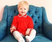 Vintage Red Dress 24 Months