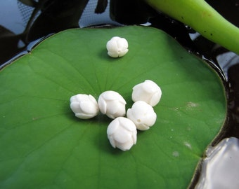Eternity Lotus Bud Beads Jewelry Supplies 2pcs