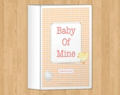 Orange Pregnancy Journal, printable