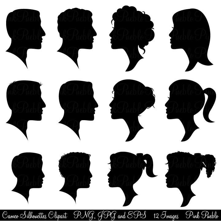 Cameo Silhouettes Clipart Clip Art Profile Silhouettes
