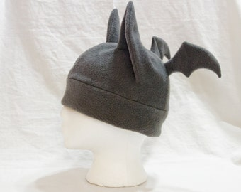 Bat Hat - Realistic Colors Black Gray Grey Brown White