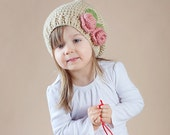 Slouchy Hat- Crochet hat for Toddlers and Girls