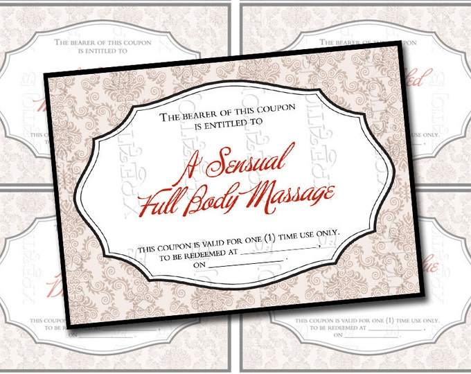 Hot and Sexy Love Coupons for your Husband Set-1, Wife, Partner, Boyfriend, Girlfriend perfect for Valentines in ATC / ACEO card size