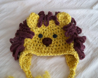 Lion Hat - Baby Lion Costume Hat - Golden Lion Hat - Halloween Costume - Pretend Play Costume - Baby Photography Prop - by JoJo's Bootique