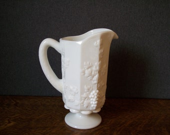 Vintage Milk Glass Westmoreland Pitcher