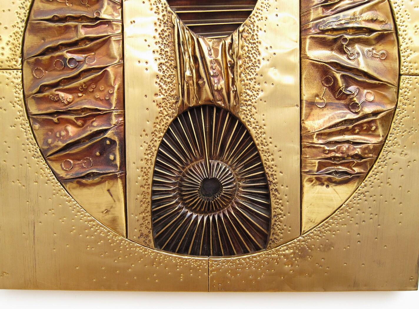 Brutalist Modernist Metal Wall Art 1 Mid Century Modern