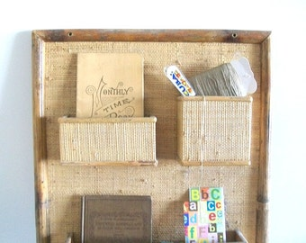 Get Organized - Vintage Wood Wall Decor Organizer