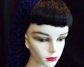 Royal Blue Rockabilly Snood Hair Net