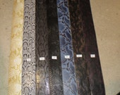Leather guitar strap, Classic snake series