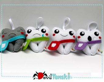 Eco Friendly Plush Kawaii Tooth Guardian Angel Keepsake for Losing Tooth  Felt Plush / Stuffed Toy (Tooth Fairy)