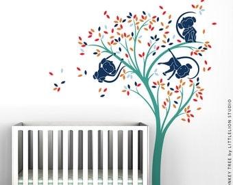 Monkey Tree Wall Decal by LittleLion Studio