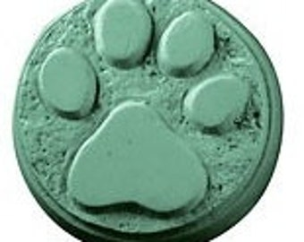 Paw Print Soap, Dog Paw Soap, Round Soap, Animal Print Soap, Novelty Soap, You pick scent & color