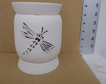 Ceramic Dragonfly Tart Warmer Bisque (Electric)