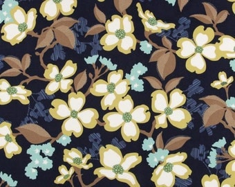 Dogwood Bloom in Lake  JD31 - Joel Dewberry - Modern Meadow - Free Spirit Fabric  - By the Yard