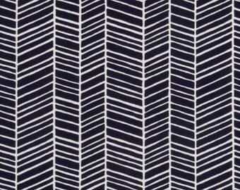 Herringbone in Lake  JD36 - Joel Dewberry - Modern Meadow - Free Spirit Fabric  - By the Yard