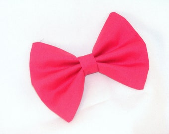 hair bow vintage inspired hot pink bow with aligator clip
