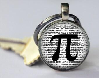 PI Key Chain, PI Key Ring, Math Keychain, Mathematics, Math Teachers, PI Accessories