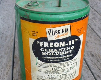 Vintage Industrial Freon-II Can