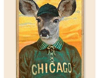 Preacher Muledeer of the Chicago White Stockings - Vintage baseball card print - Boys Room Man Cave sports bar decor - Chicago White Sox