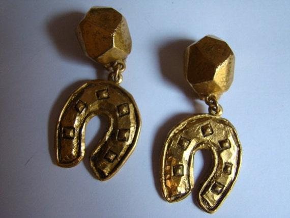 Jean Louis Scherrer Earrings Horseshoe