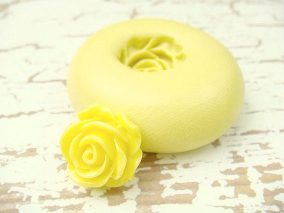 Itty Bitty Rose Flower - Flexible Silicone Mold - Push Mold, Jewelry Mold, Polymer Clay Mold, Resin Mold, Craft Mold, PMC Mold