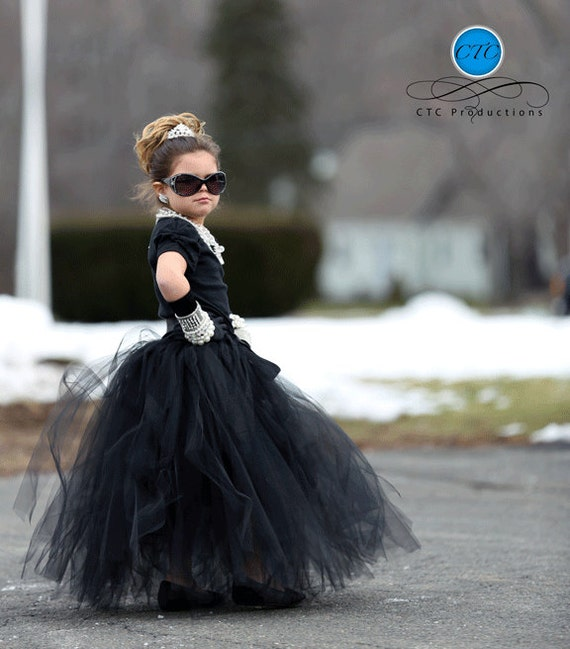 Breakfast at Tiffany's Tutu Skirt by Atutudes | Breakfast At Tiffanys Tutu | Mini Audrey Hepburn Tutu | Audrey Hepburn Toddler Dress
