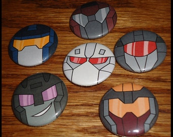 Transformers Combaticons Pins - Set of 6
