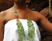 African Jewelry Lime Green  Masai Beaded necklace-Chunky Handmade African necklace-Statement African Necklace-Elegant African Jewelry