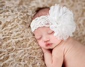 Baby headband, newborn headband, adult headband, child headband and photography prop The single sprinkled- PURE Lace headband