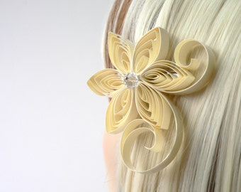 Cream Wedding Hair Clip, Cream Wedding Hair Accessory, Blonde Wedding Accessories