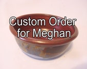 Reserved for Meghan - Olive Bowl - Earthtones Rust Red, Sky Blue Serving Decor Handmade Pottery