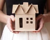 Paper Mache House Shaped Box, U-Decorate