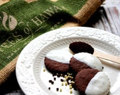 Natural & Organic Gourmet Chocolate Hawaiian Kona Coffee Butter Cookies (12 Count)