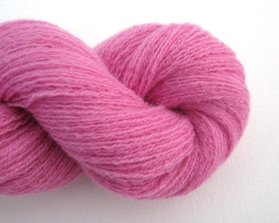 Lace Weight Cashmere Recycled Yarn, Cool Pink, Two Skeins, 400 Yards