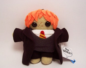 SALE Ron Weasley Harry Potter Severus Snape Draco Malfoy or Hermione Granger Plush Doll Keychain stuffed toy